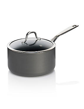 Chef Hard Anodised 20Cm Saucepan