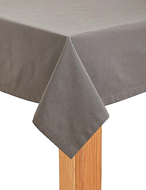 Plain Cotton Tablecloth