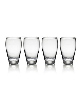 4 Fiore Hi Ball Glasses