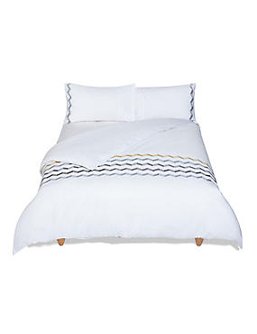 Geo Embroidered Bedding Set