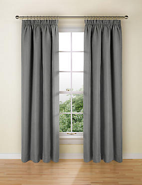 Bantry Weave Pencil Pleat Curtains