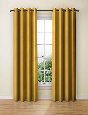 Pure Cotton Curtains, OCHRE, catlanding