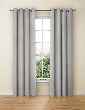 Pure Cotton Curtains, GREY, catlanding