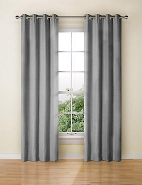 Textured Plain Eyelet Curtain