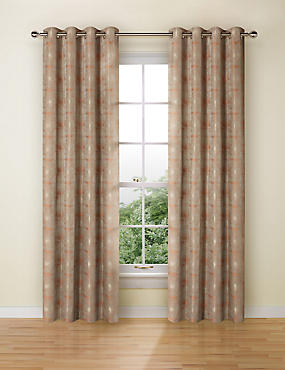 Painterly Jacquard Eyelet Curtains