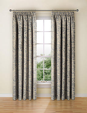 Alba Metallic Print Curtain