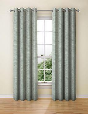 Navora Eyelet Curtains, DUCK EGG, catlanding