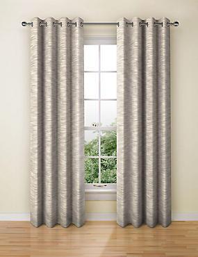 Navora Eyelet Curtains, MUSHROOM, catlanding