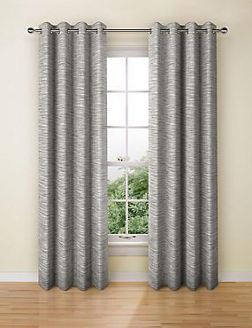 Navora Eyelet Curtains, CHARCOAL, catlanding