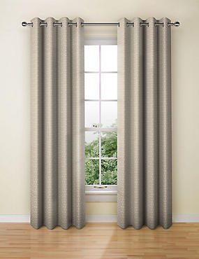 Raised Crackle Geo Eyelet Curtain