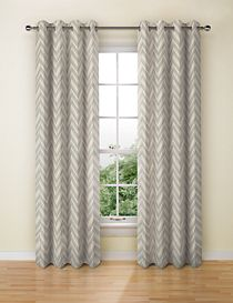 Crescent Chevron Eyelet Curtain