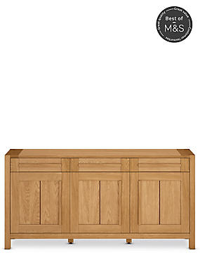Sonoma Light 3 Door Sideboard - 7 Day Delivery*