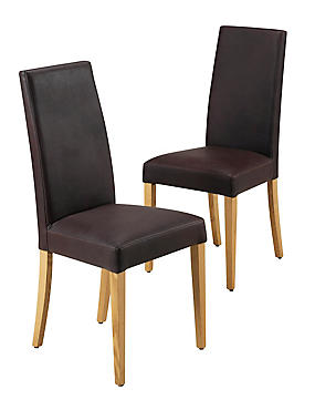 2 Alton Brown Leather Dining Chairs