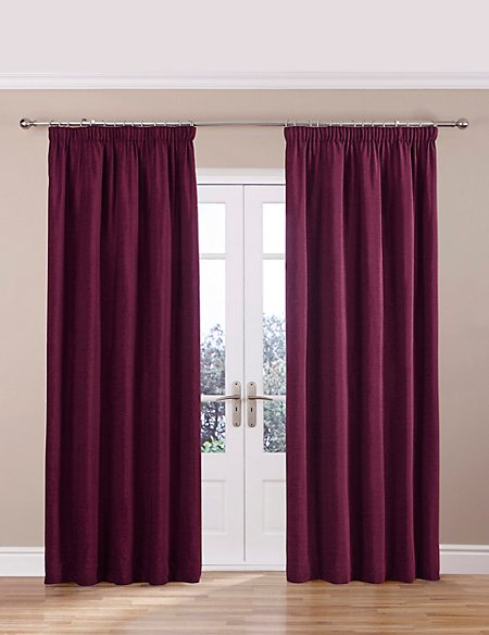 Chenille Thinsulate™ Pencil Pleat Curtains