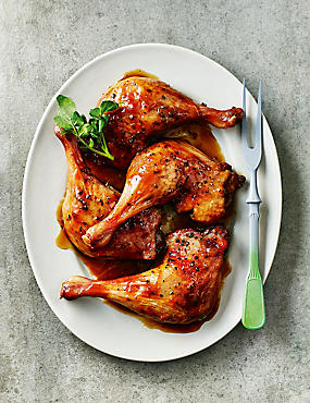 4 British Duck Legs with a Sticky Orange Glaze