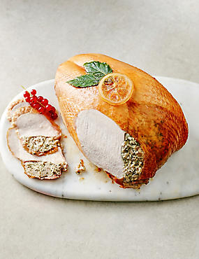 British Turkey Crown with Pork, Sage & Onion Stuffing
