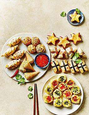 Oriental Party Food Selection - 36 Pieces