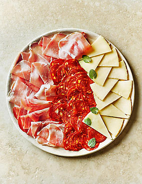 Traditional Spanish Platter with Manchego Cheese Selection