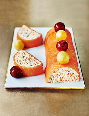 Smoked Salmon Terrine with Baubles