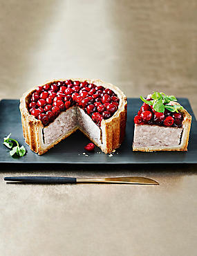 Large Cranberry-Topped Pork Pie