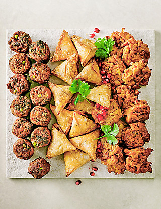 Indian-Style Snack Selection (36 Pieces) Food