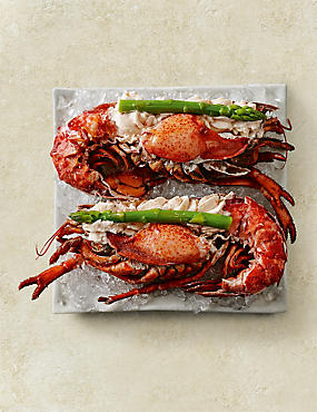 Halves of Dressed Fresh Canadian Lobster