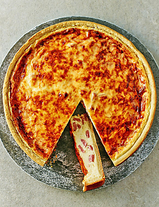 Large Quiche Lorraine Food