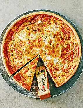 Large Red Pepper, Feta & Spinach Quiche