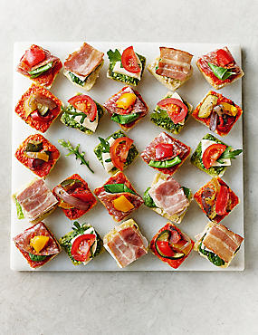 Picnic food ideas sandwiches snacks vegetarian m s for Canape bases ideas
