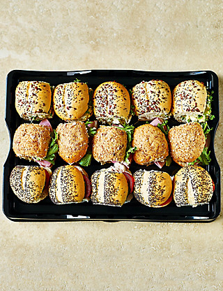 Classic Mini Roll Platter (16 Rolls) Food