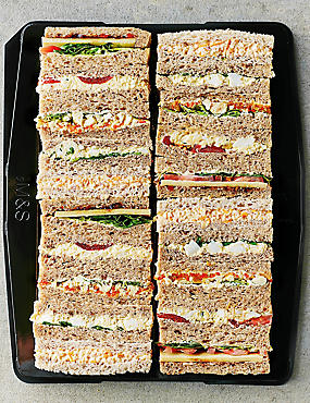 Vegetarian Sandwich Finger Platter - 20 Sandwich Fingers (Serves 20)