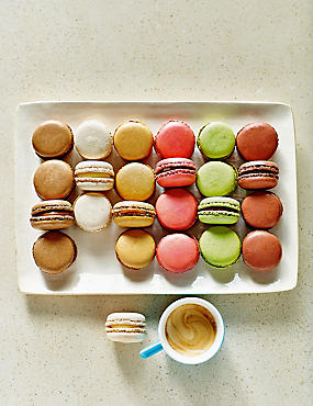 Chocolate Macaroon Assortment (24 Pieces)