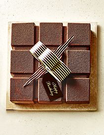 The Collection Cubed Chocolate & Raspberry Mousse Cake with Happy Birthday Plaque (Serves 12)