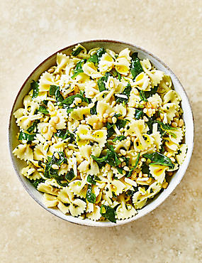 Pasta Salad with Spinach & Pine Kernals