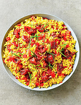 Orzo Pasta & Roasted Tomato Salad