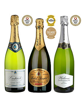 Gold Medal Winning Sparkling Wines - Case of 6
