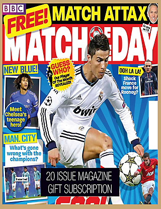 Match of the Day - Magazine Gift Subscription Home