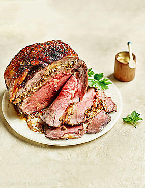British Boneless Rib of Beef with Porcini