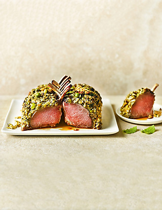 Lamb Guard of Honour with a Pea & Mint Crust Food