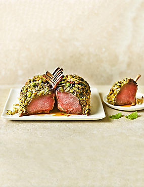Lamb Guard of Honour with a Pea & Mint Crust