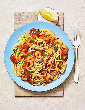 Made Without Wheat Spicy Prawn Spaghetti