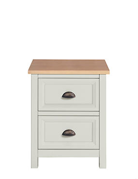 Dawson Country Bedside Table Grey