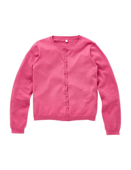 Cotton Rich Long Sleeve Cardigan (5-14 Years)