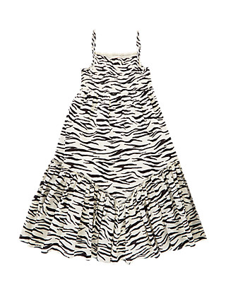 Pure Cotton Zebra Print Girls Dress (5-14 Years) Clothing