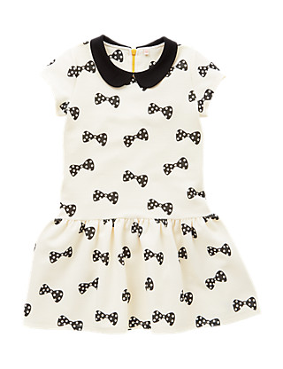 Bow Print Dress (5-14 Years) Clothing