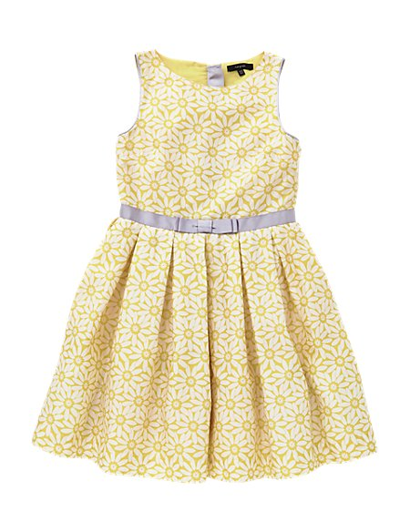 Pure Cotton Floral Girls Dress (5-14 Years)