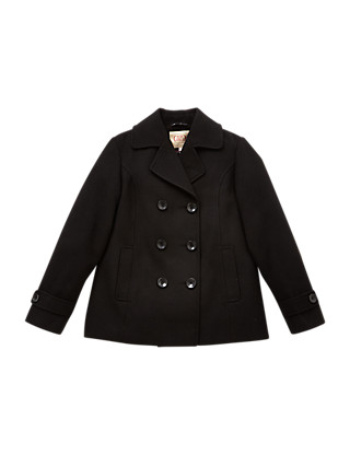 Machine Washable Pea Coat (5-14 Years) Clothing
