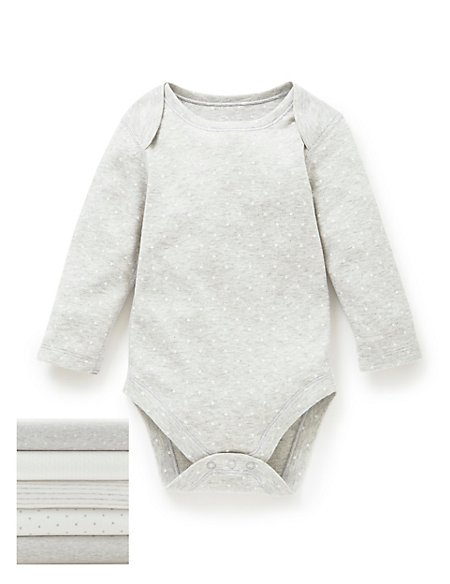 5 Pack Pure Cotton Star Bodysuits