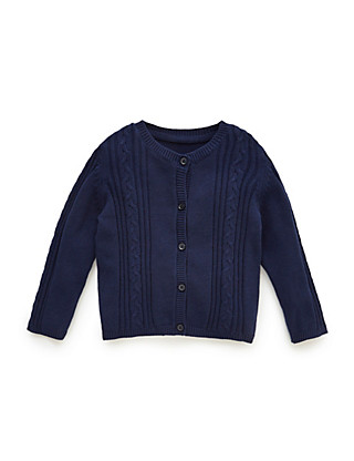 Pure Cotton Cable Knit Cardigan Clothing