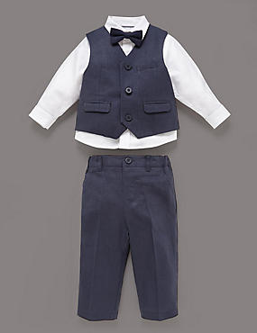 3 Piece Christening Waistcoat Outfit